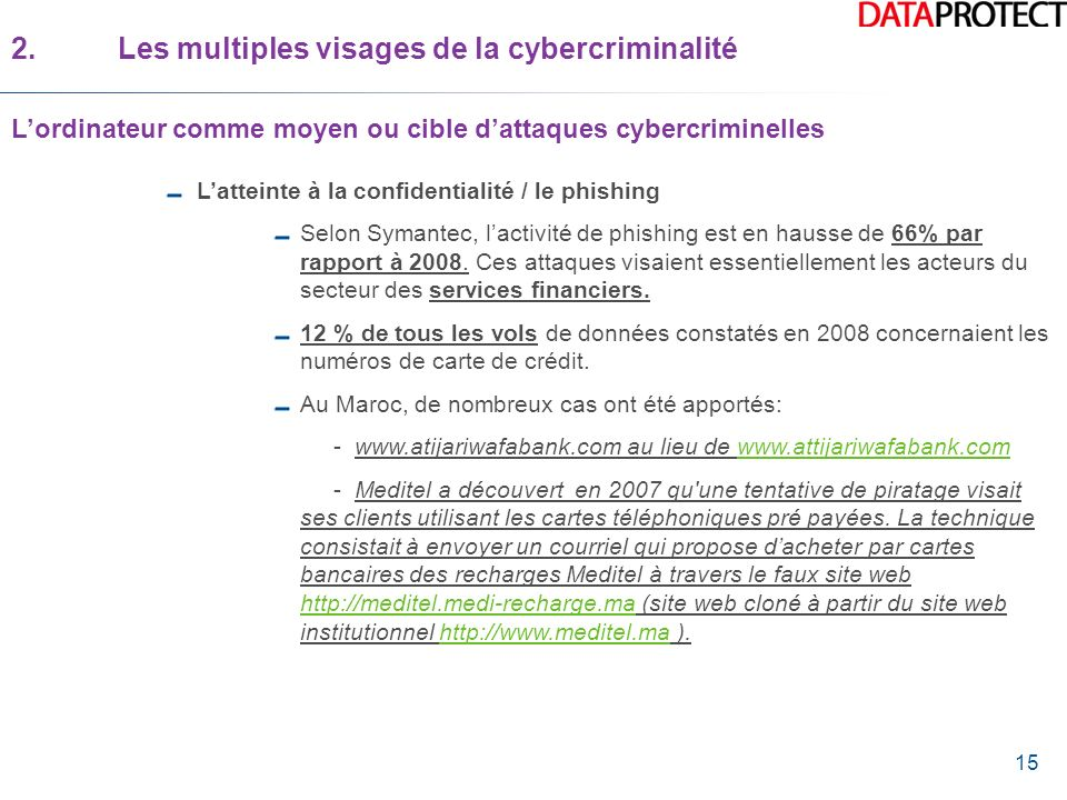 2. Les multiples visages de la cybercriminalité