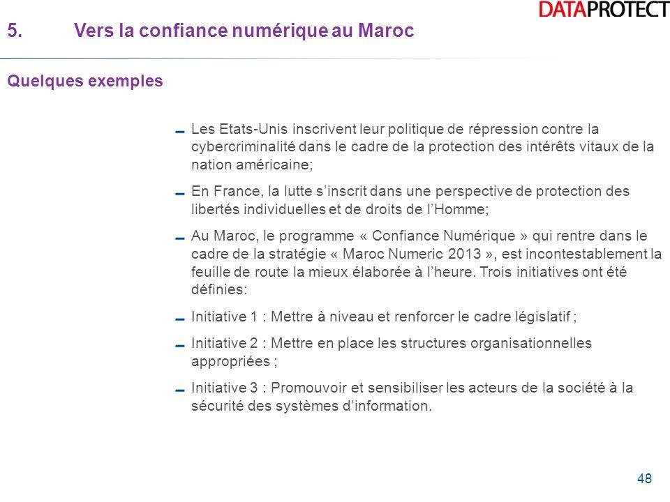 5. Vers la confiance numérique au Maroc