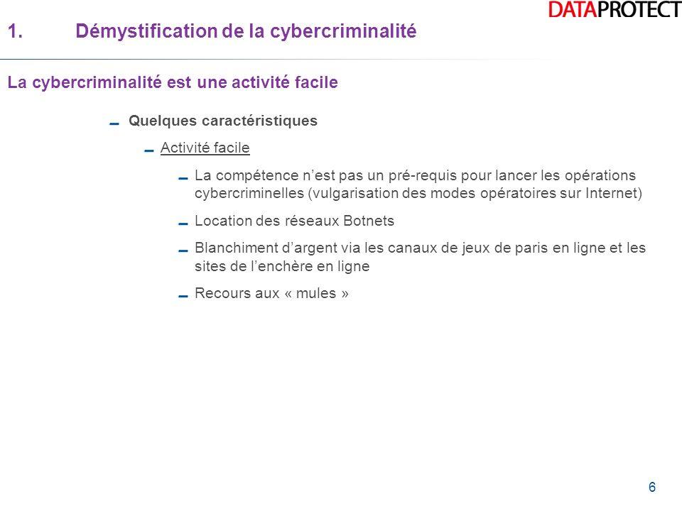1. Démystification de la cybercriminalité