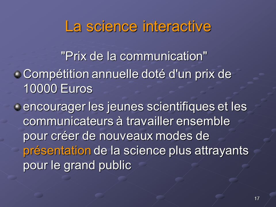 La science interactive