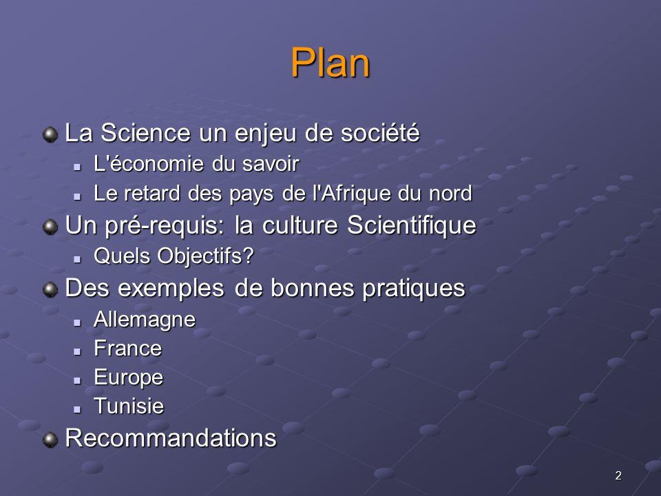 Plan La Science un enjeu de société
