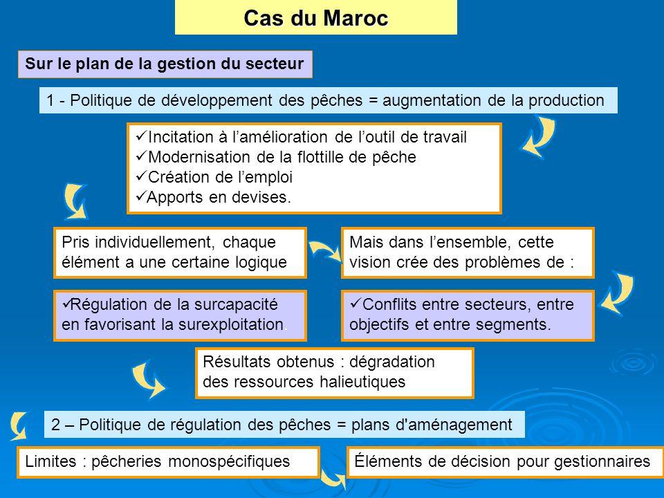 Cas du Maroc Sur le plan de la gestion du secteur