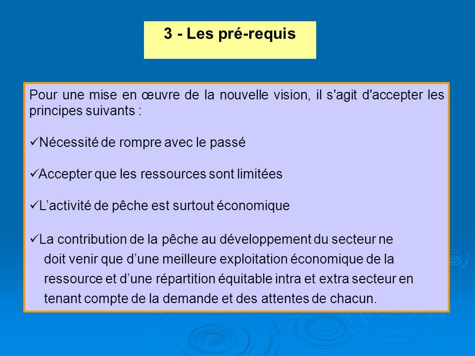 3 - Les pré-requis Pour une mise en œuvre de la nouvelle vision, il s agit d accepter les principes suivants :
