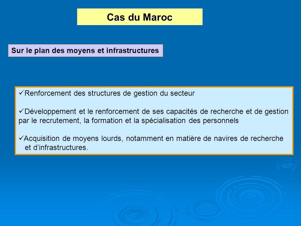 Cas du Maroc Sur le plan des moyens et infrastructures