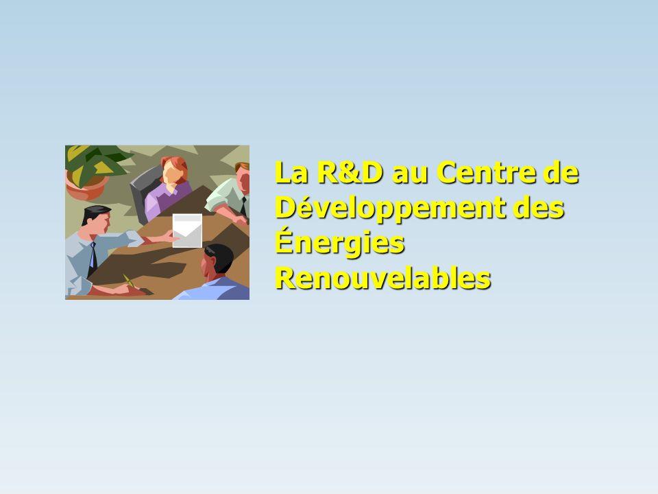 La R&D au Centre de Développement des Énergies Renouvelables