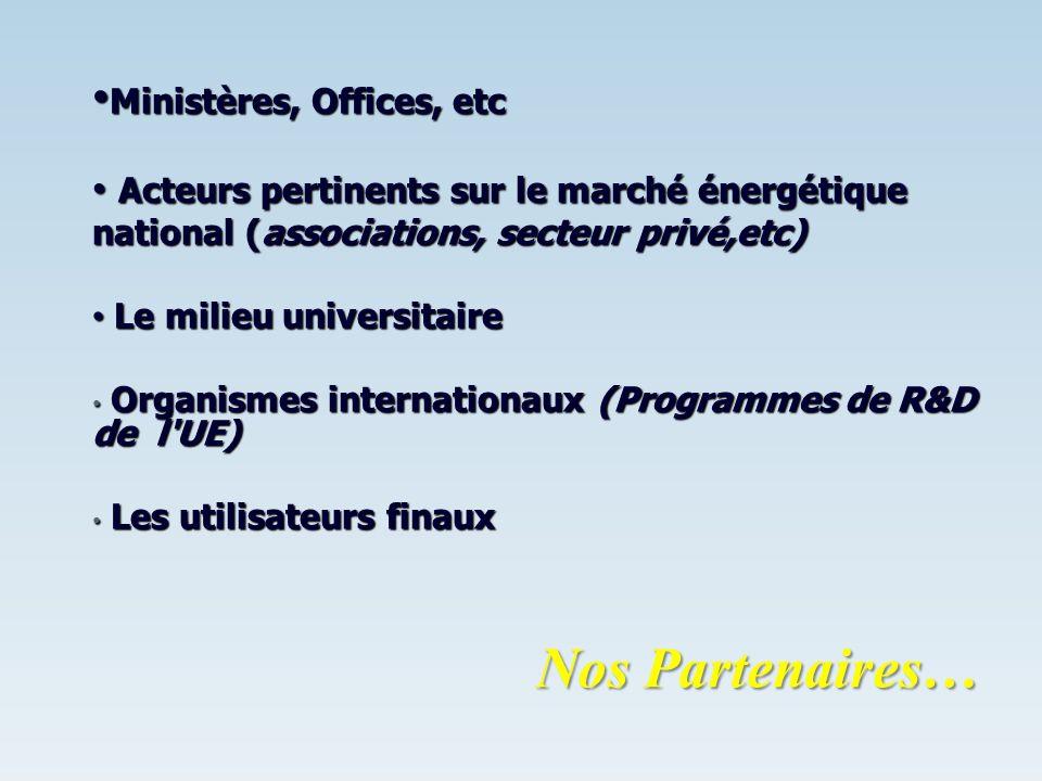 Ministères, Offices, etc