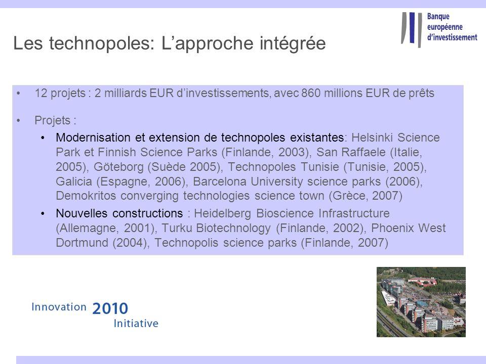 Les technopoles: L'approche intégrée