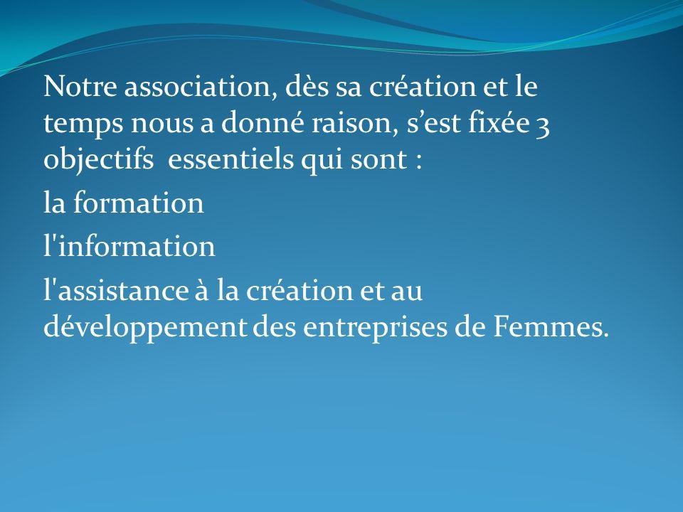 Notre association, dès sa création et le temps nous a donné raison, s'est fixée 3 objectifs essentiels qui sont :