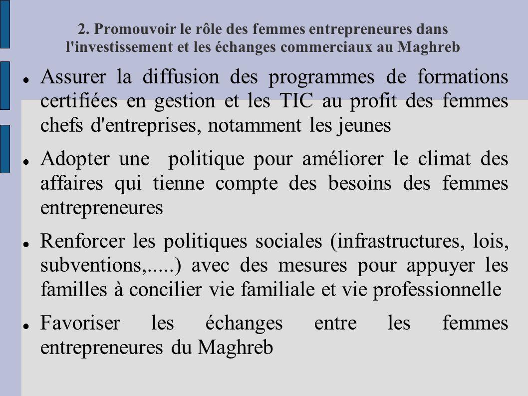 Favoriser les échanges entre les femmes entrepreneures du Maghreb