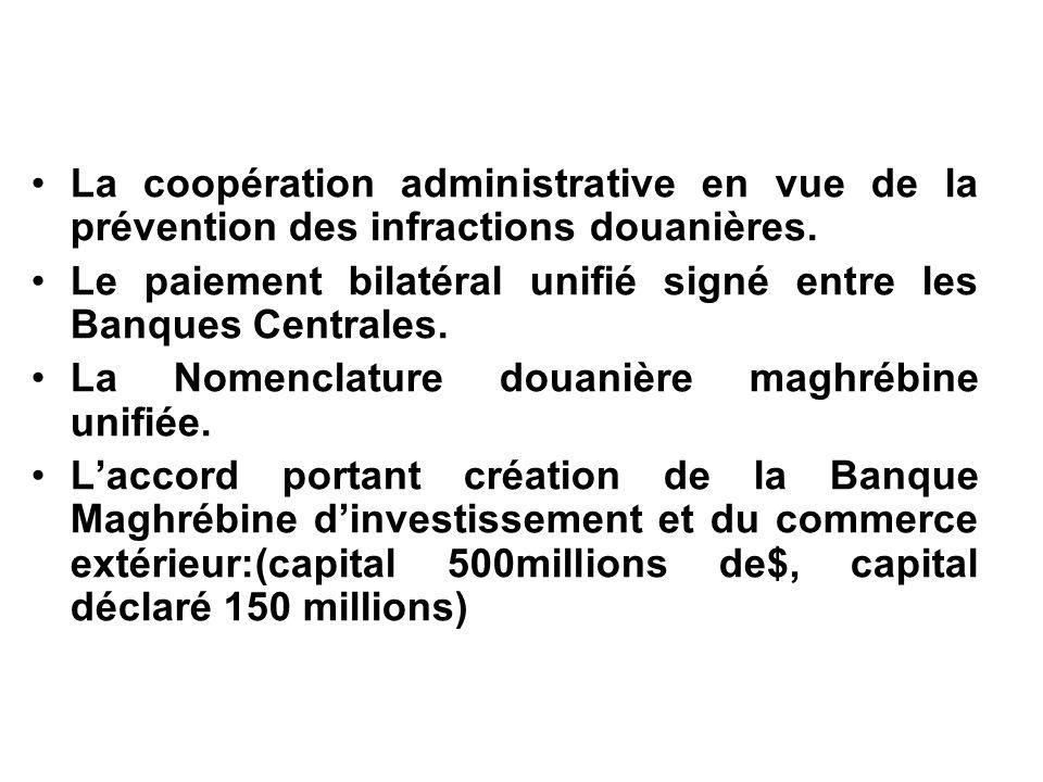 La coopération administrative en vue de la prévention des infractions douanières.