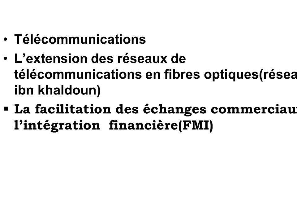 Télécommunications L'extension des réseaux de télécommunications en fibres optiques(réseau ibn khaldoun)