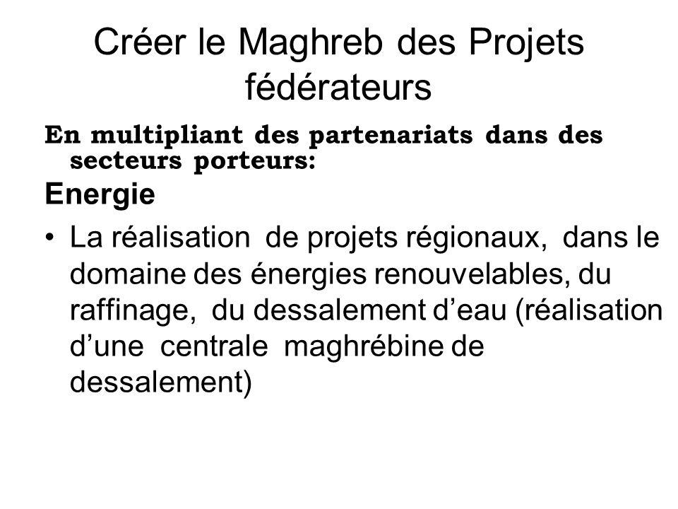 Créer le Maghreb des Projets fédérateurs
