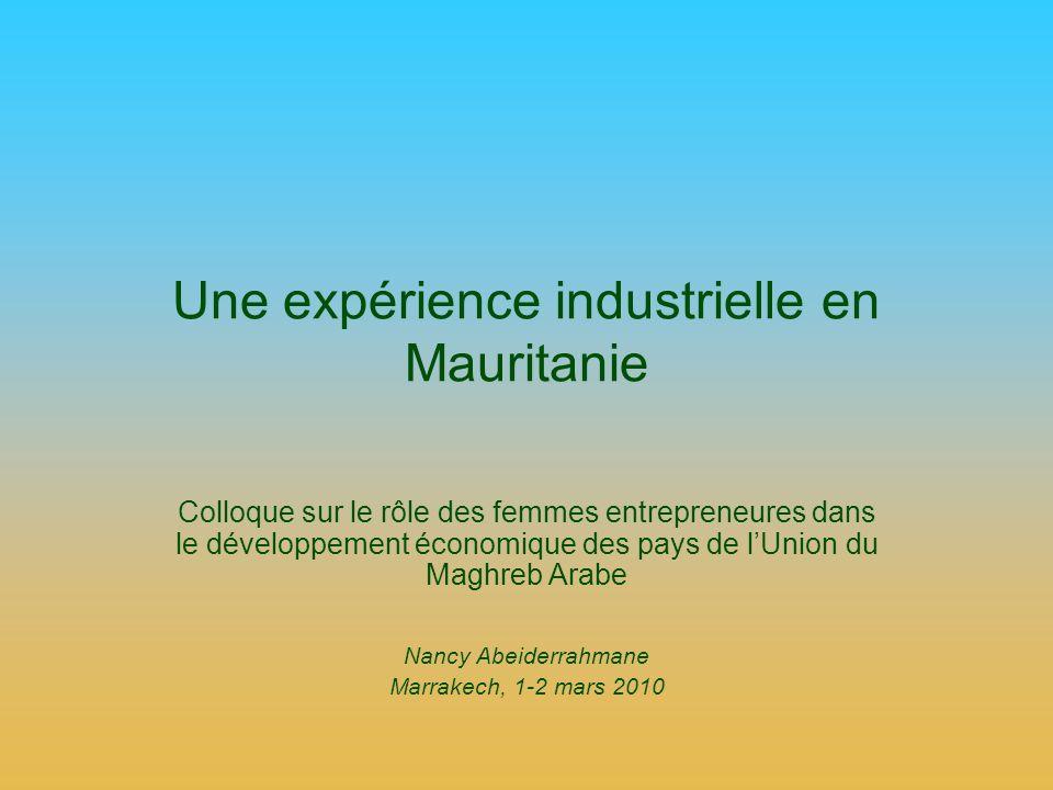 Une expérience industrielle en Mauritanie