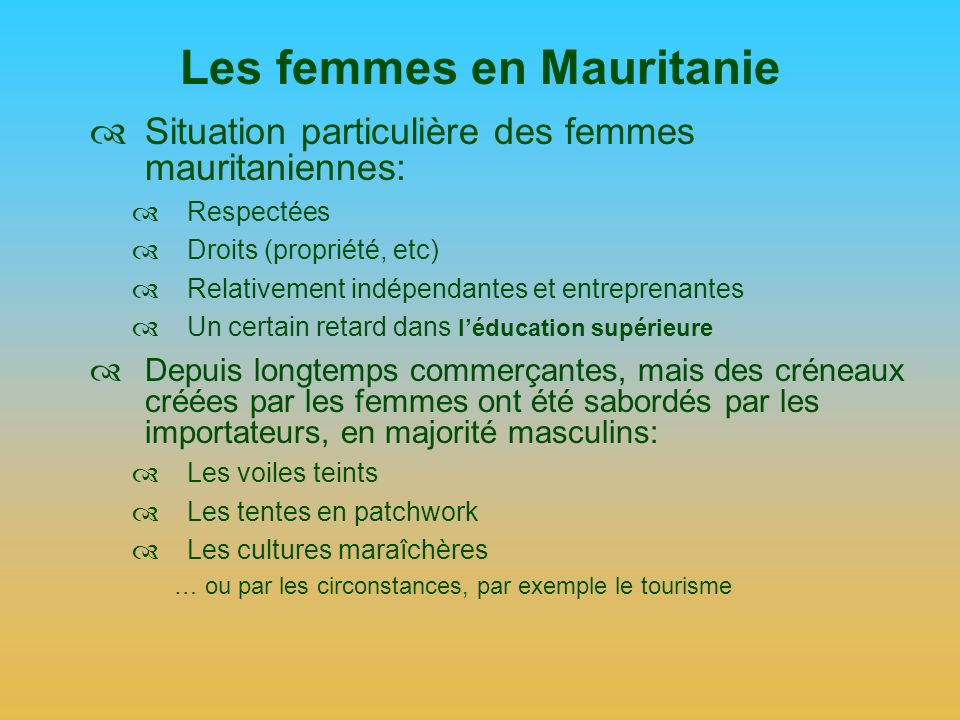 Les femmes en Mauritanie