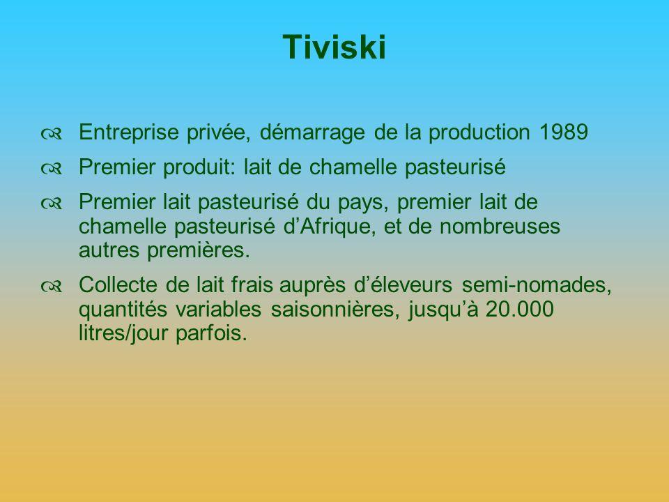 Tiviski Entreprise privée, démarrage de la production 1989