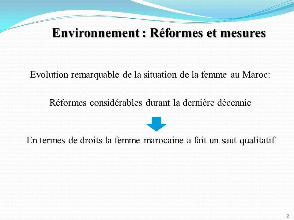 Environnement : Réformes et mesures