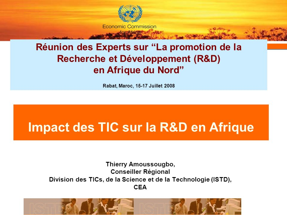 Impact des TIC sur la R&D en Afrique
