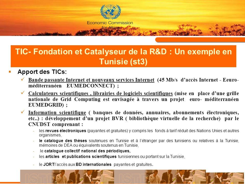 TIC- Fondation et Catalyseur de la R&D : Un exemple en Tunisie (st3)