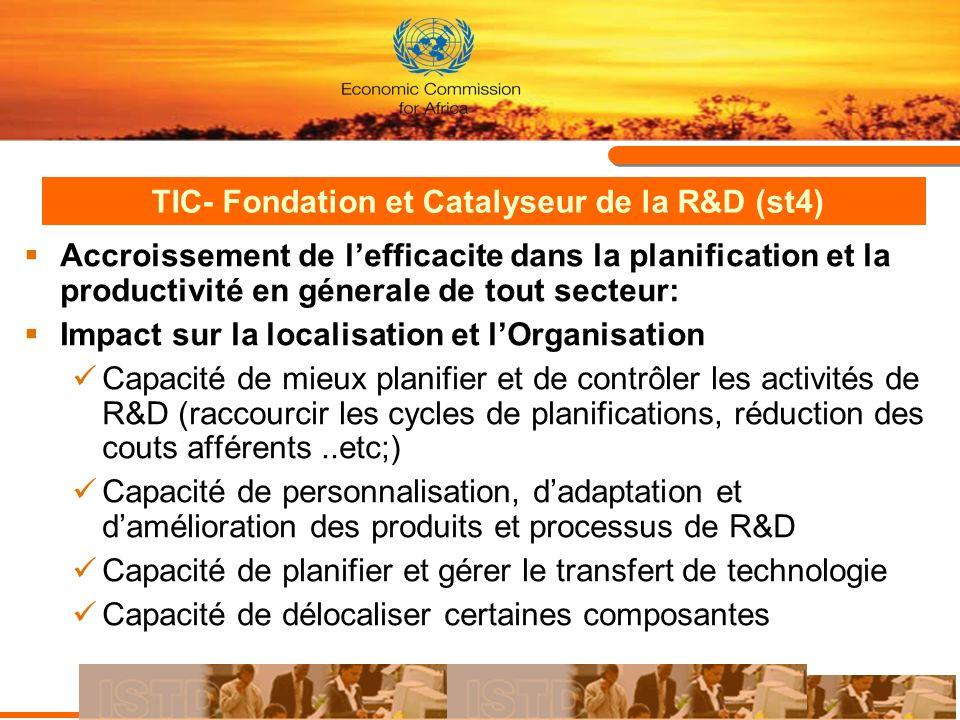 TIC- Fondation et Catalyseur de la R&D (st4)