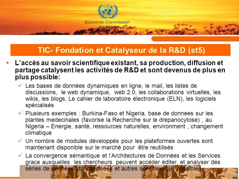 TIC- Fondation et Catalyseur de la R&D (st5)