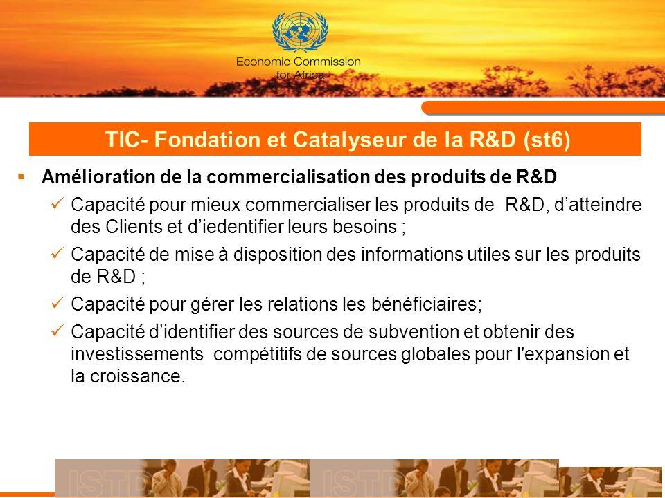 TIC- Fondation et Catalyseur de la R&D (st6)