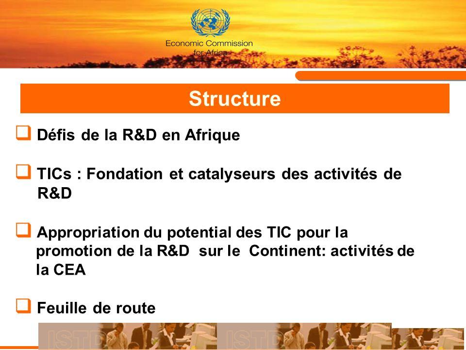 Structure Défis de la R&D en Afrique
