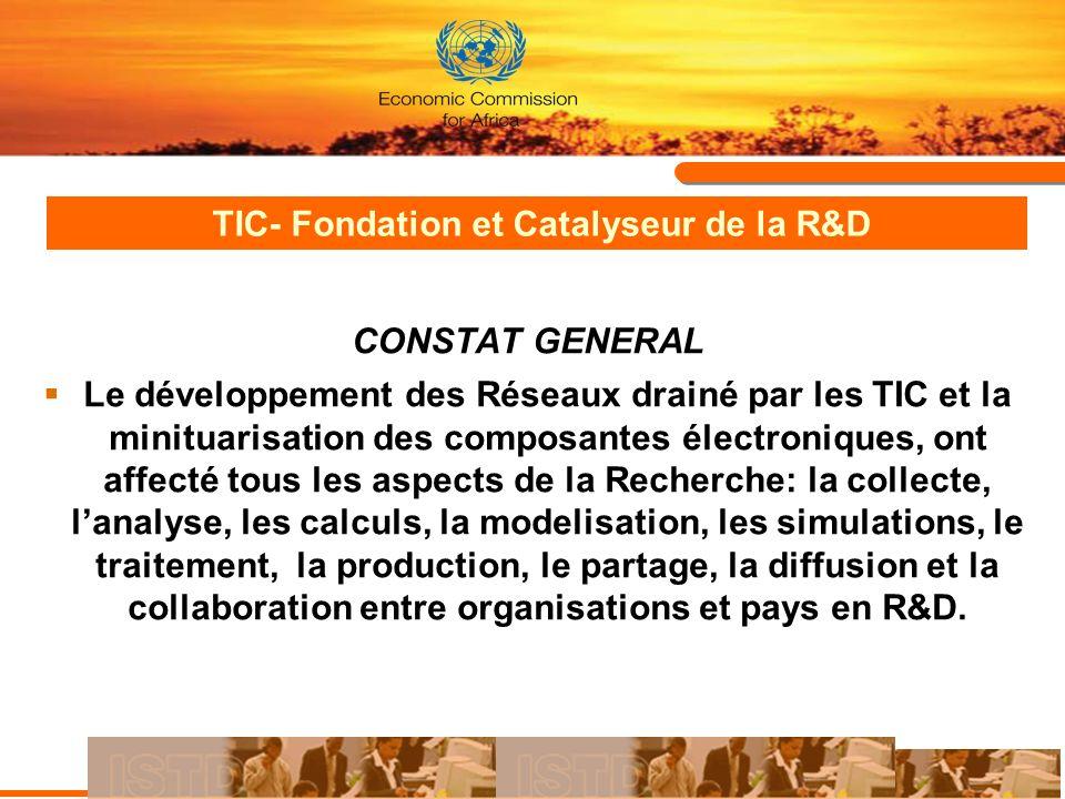 TIC- Fondation et Catalyseur de la R&D
