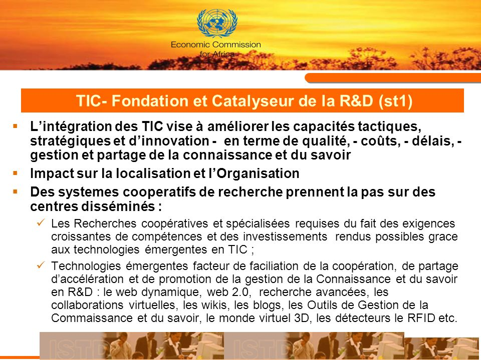 TIC- Fondation et Catalyseur de la R&D (st1)