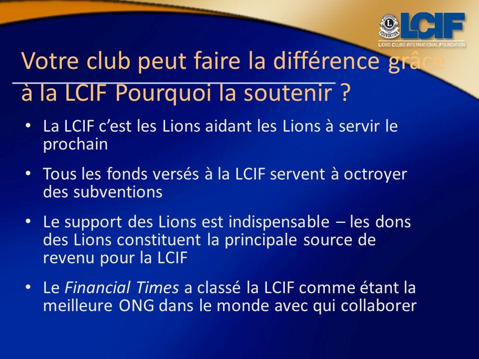 Votre club peut faire la différence grâce à la LCIF Pourquoi la soutenir