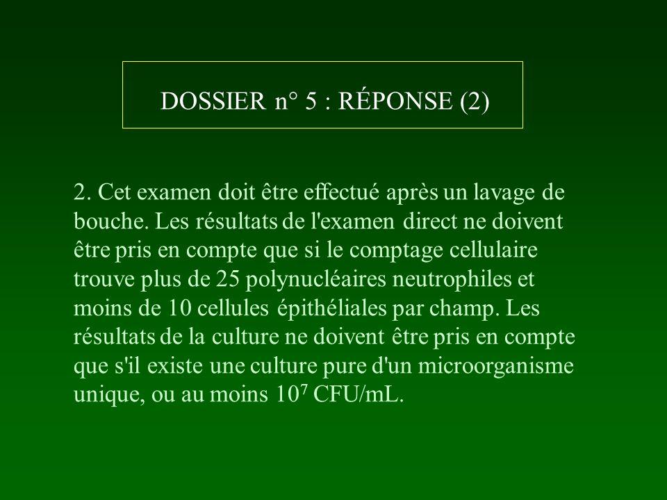 DOSSIER n° 5 : RÉPONSE (2)