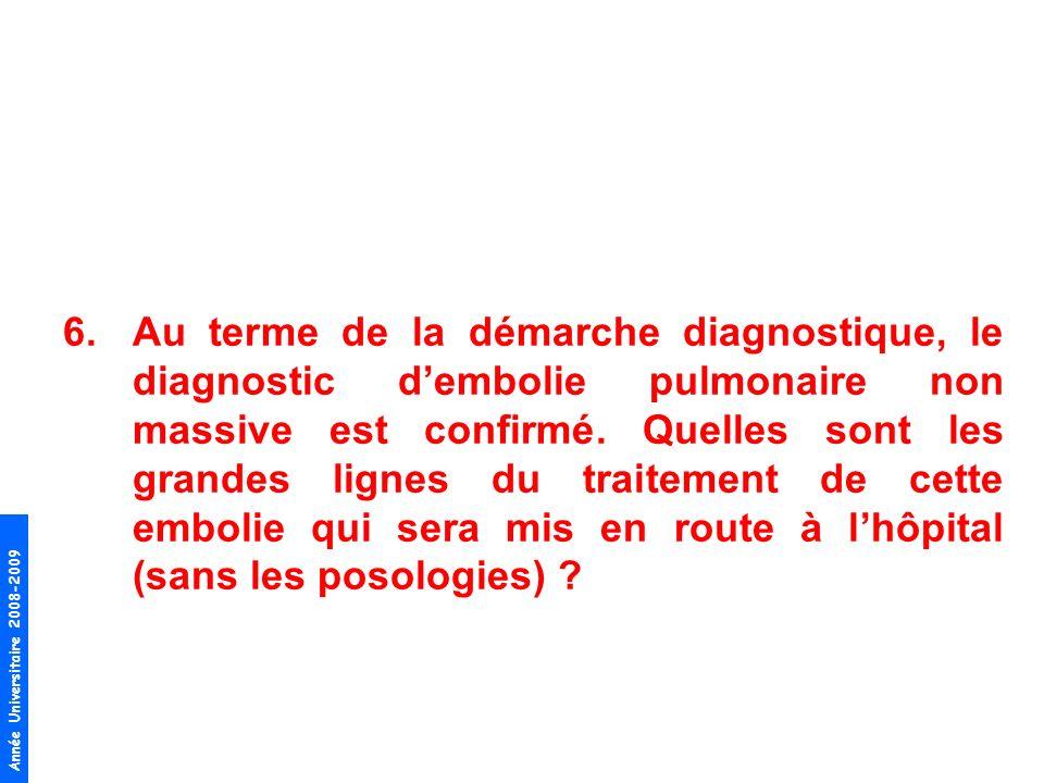 Au terme de la démarche diagnostique, le diagnostic d'embolie pulmonaire non massive est confirmé.