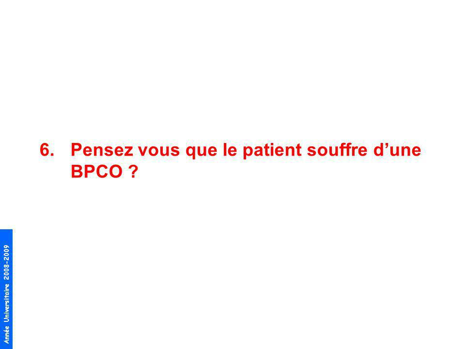 Pensez vous que le patient souffre d'une BPCO