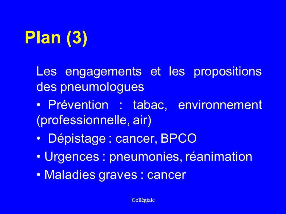 Plan (3) Les engagements et les propositions des pneumologues