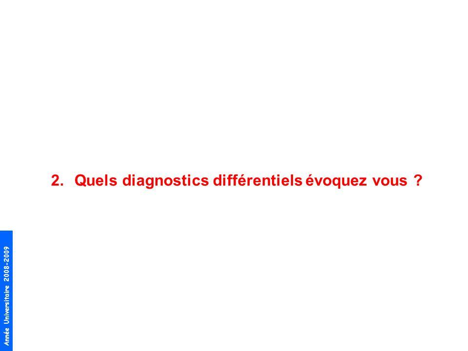 Quels diagnostics différentiels évoquez vous