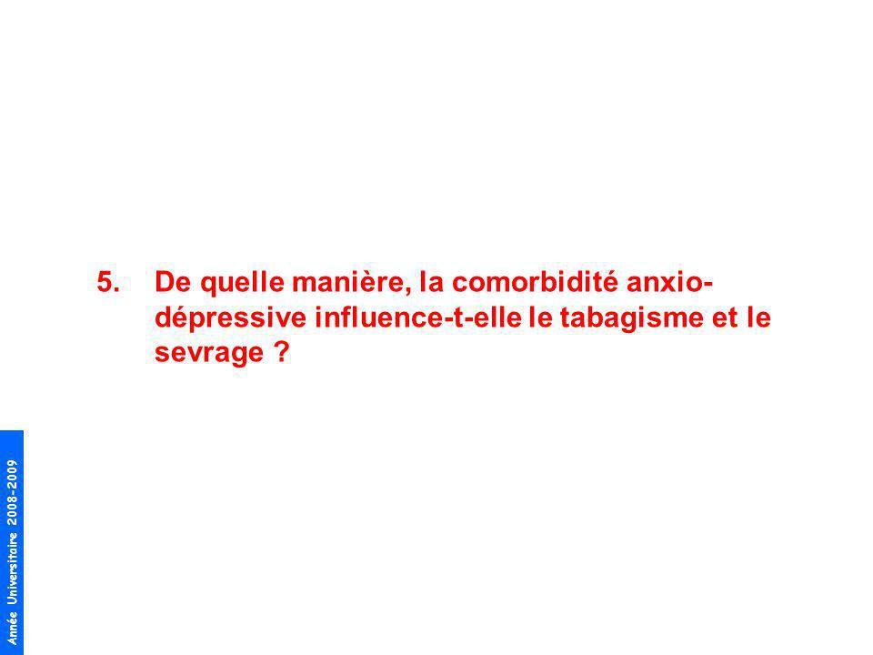 De quelle manière, la comorbidité anxio-dépressive influence-t-elle le tabagisme et le sevrage