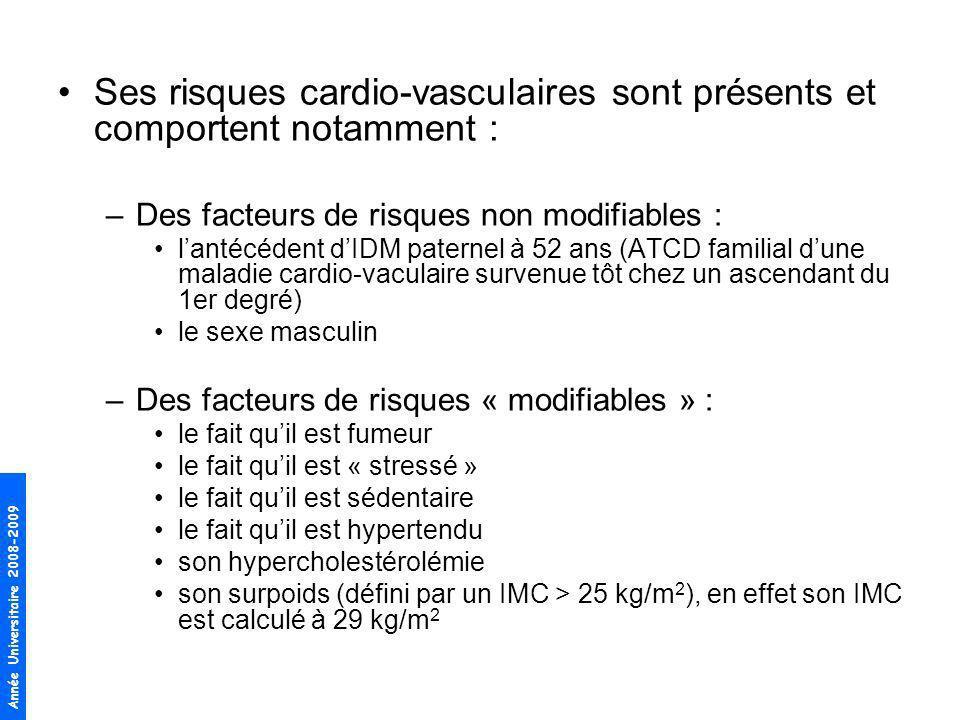 Ses risques cardio-vasculaires sont présents et comportent notamment :