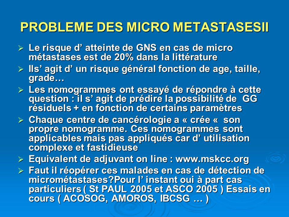 PROBLEME DES MICRO METASTASESII