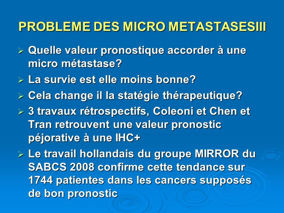 PROBLEME DES MICRO METASTASESIII
