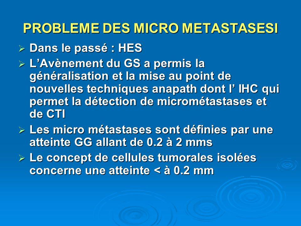 PROBLEME DES MICRO METASTASESI