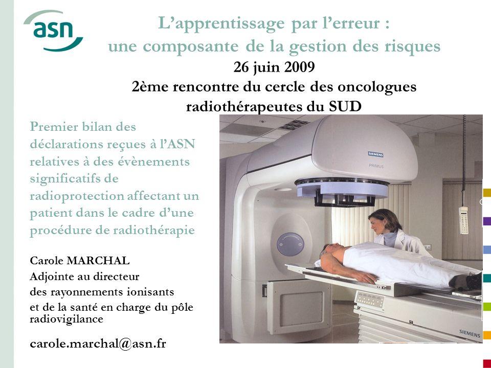 L'apprentissage par l'erreur : une composante de la gestion des risques 26 juin 2009 2ème rencontre du cercle des oncologues radiothérapeutes du SUD