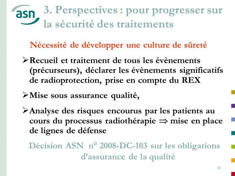 3. Perspectives : pour progresser sur la sécurité des traitements