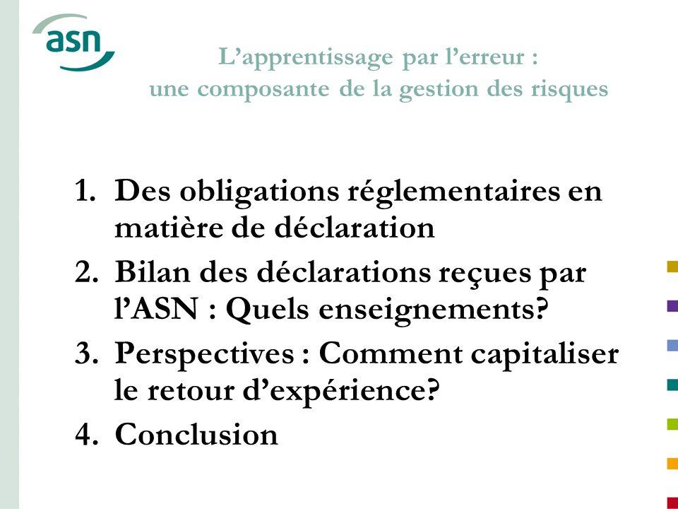 Des obligations réglementaires en matière de déclaration