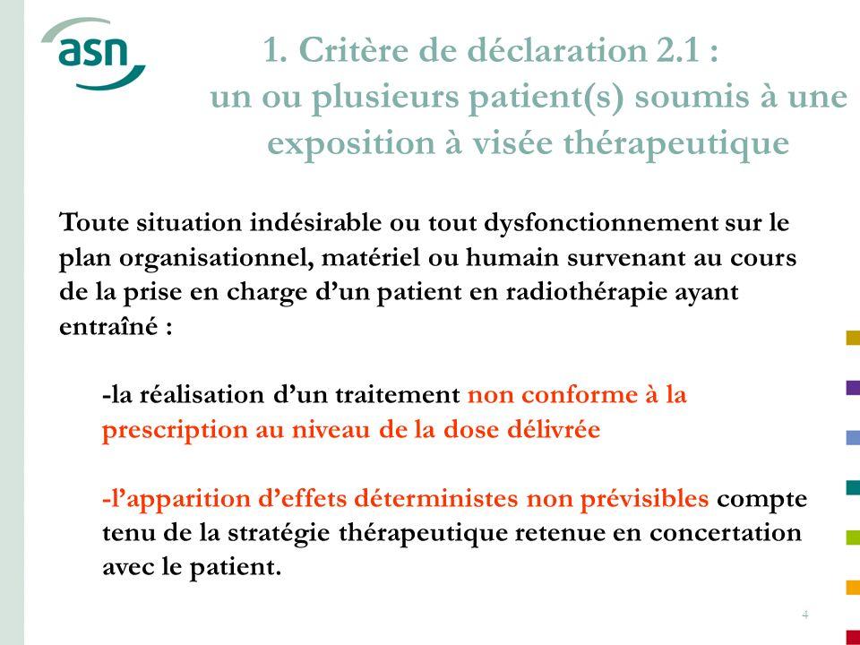 1. Critère de déclaration 2