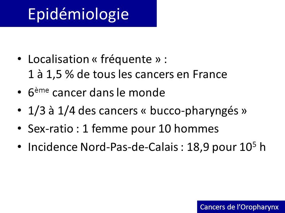 Epidémiologie Localisation « fréquente » : 1 à 1,5 % de tous les cancers en France.