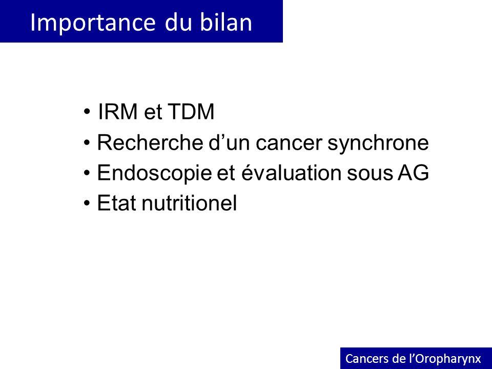 Importance du bilan IRM et TDM Recherche d'un cancer synchrone