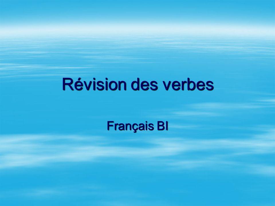 Révision des verbes Français BI