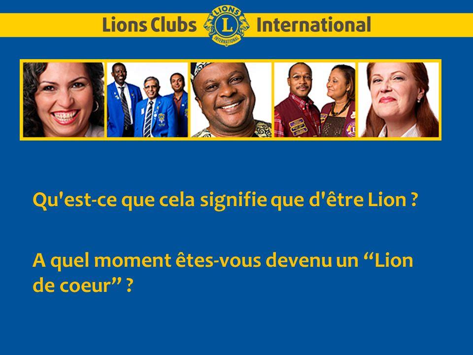 Qu est-ce que cela signifie que d être Lion