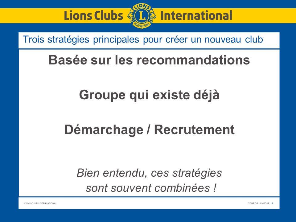 Trois stratégies principales pour créer un nouveau club