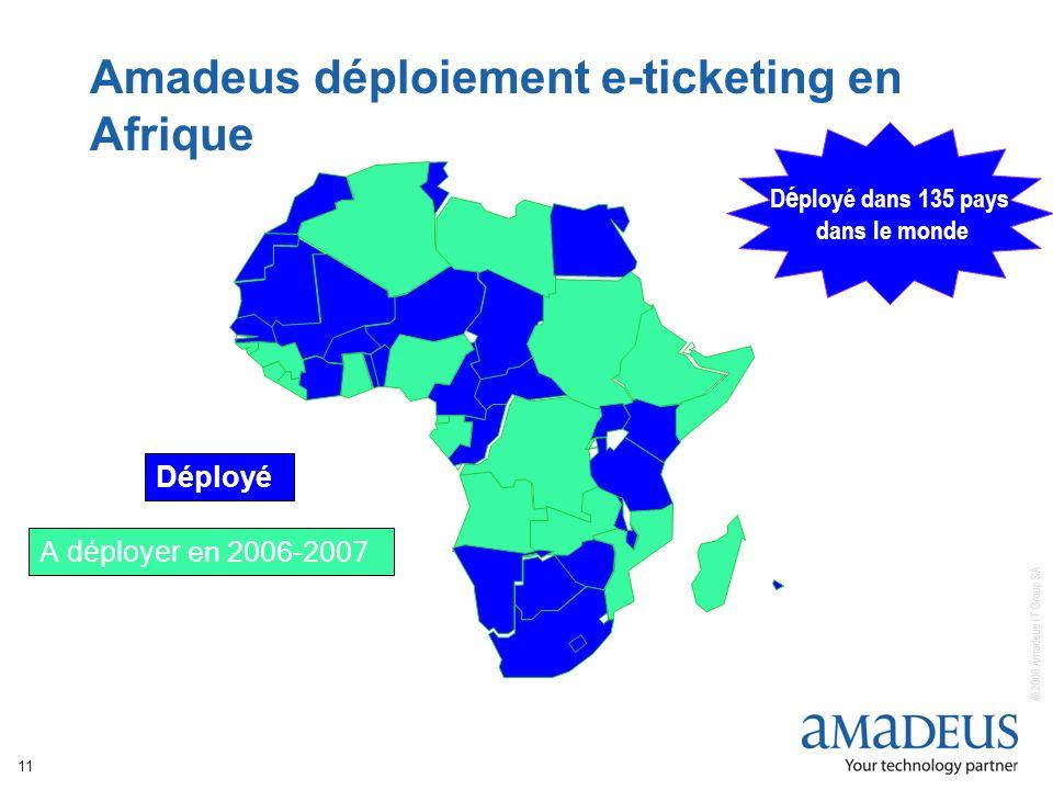 Amadeus déploiement e-ticketing en Afrique