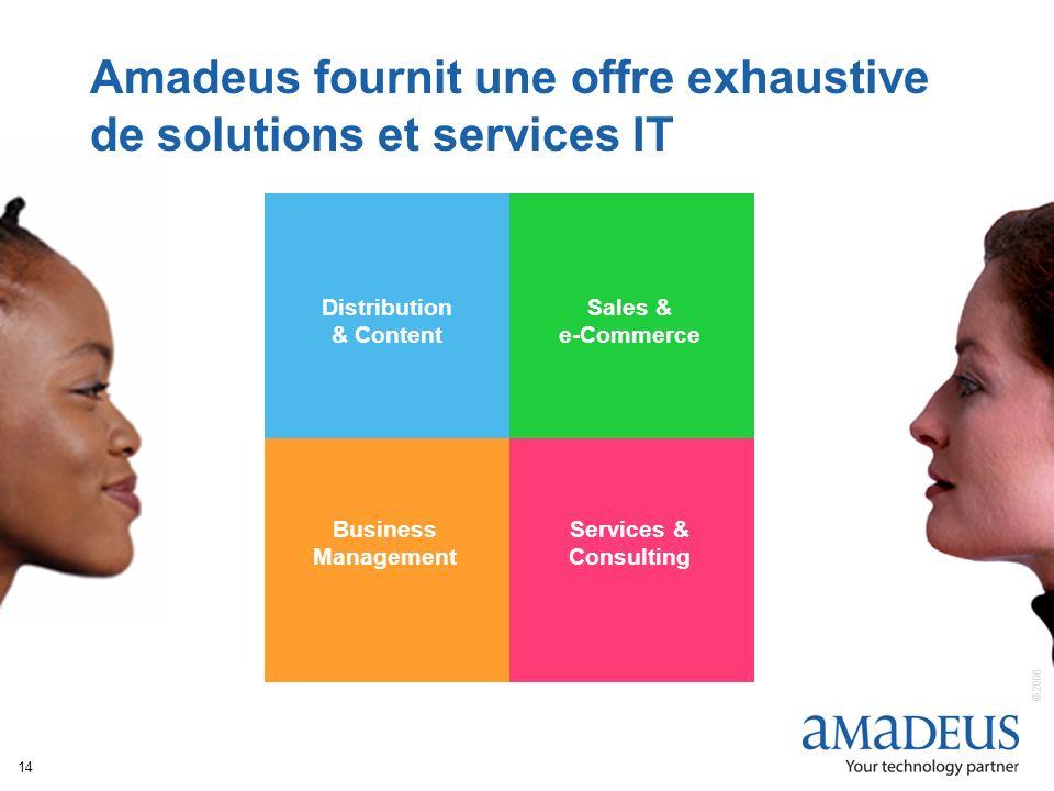 Amadeus fournit une offre exhaustive de solutions et services IT